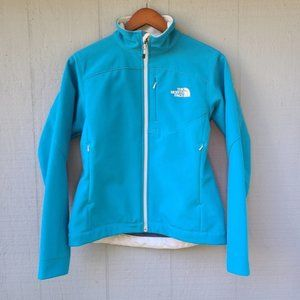 The North Face Soft Shell Zip Jacket Blue Small